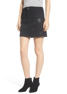 Current/Elliott Five-Pocket Denim Miniskirt (Vineland with Stars)