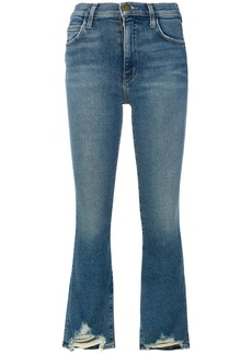 Current/Elliott flared cropped jeans - Blue