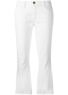 Current/Elliott flared cropped jeans - White