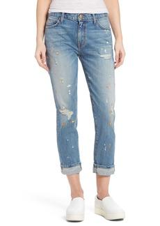 Current/Elliott Fling Distressed Rolled Jeans (Bolero)