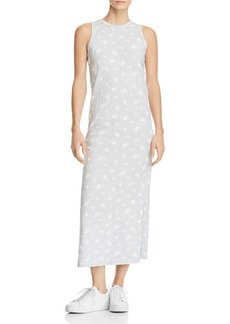 Current/Elliott Floral Print Midi Tank Dress