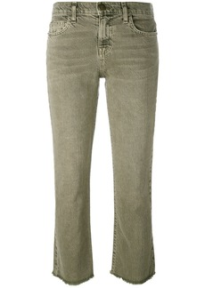 Current/Elliott frayed kick flare jeans - Green