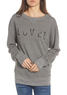 Current/Elliott Heathered Slouchy Sweatshirt