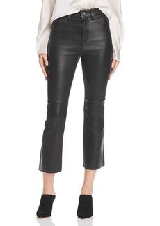 Current/Elliott High-Rise Kick Flare Leather Pants