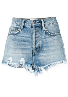 Current/Elliott high-waisted distressed shorts - Blue