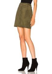 Current/Elliott Leather Naval Skirt