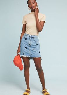 Current/Elliott Love Letter Denim Mini Skirt