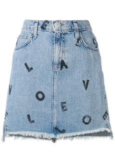 Current/Elliott Love Letters denim skirt - Blue