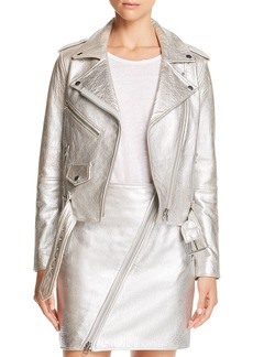 Current/Elliott Metallic Leather The Shaina Biker Jacket