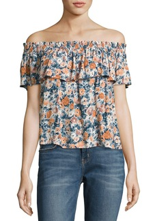 Current/Elliott Off-The-Shoulder Ruffle Top