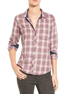 Current/Elliott Plaid Slim Boyfriend Shirt