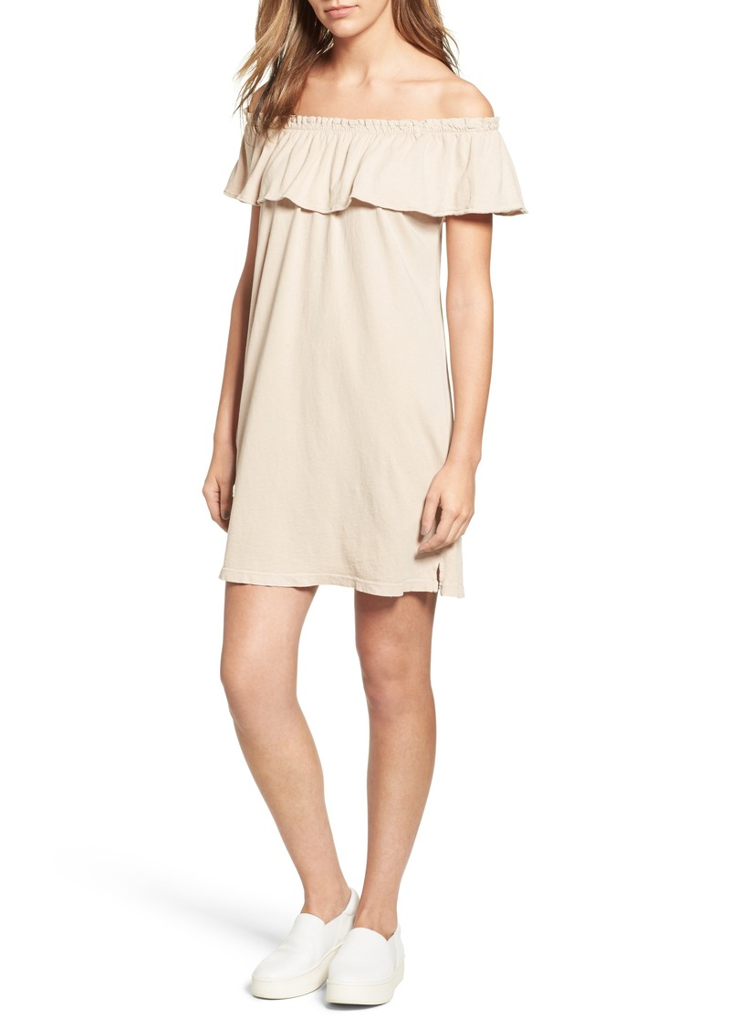 Current/Elliott Ruffle Off the Shoulder Dress