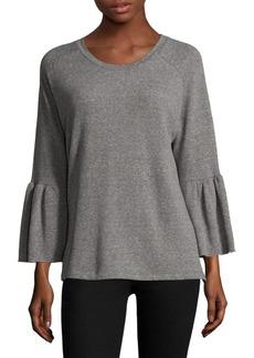 Current/Elliott Ruffled Bell Sleeve Sweatshirt
