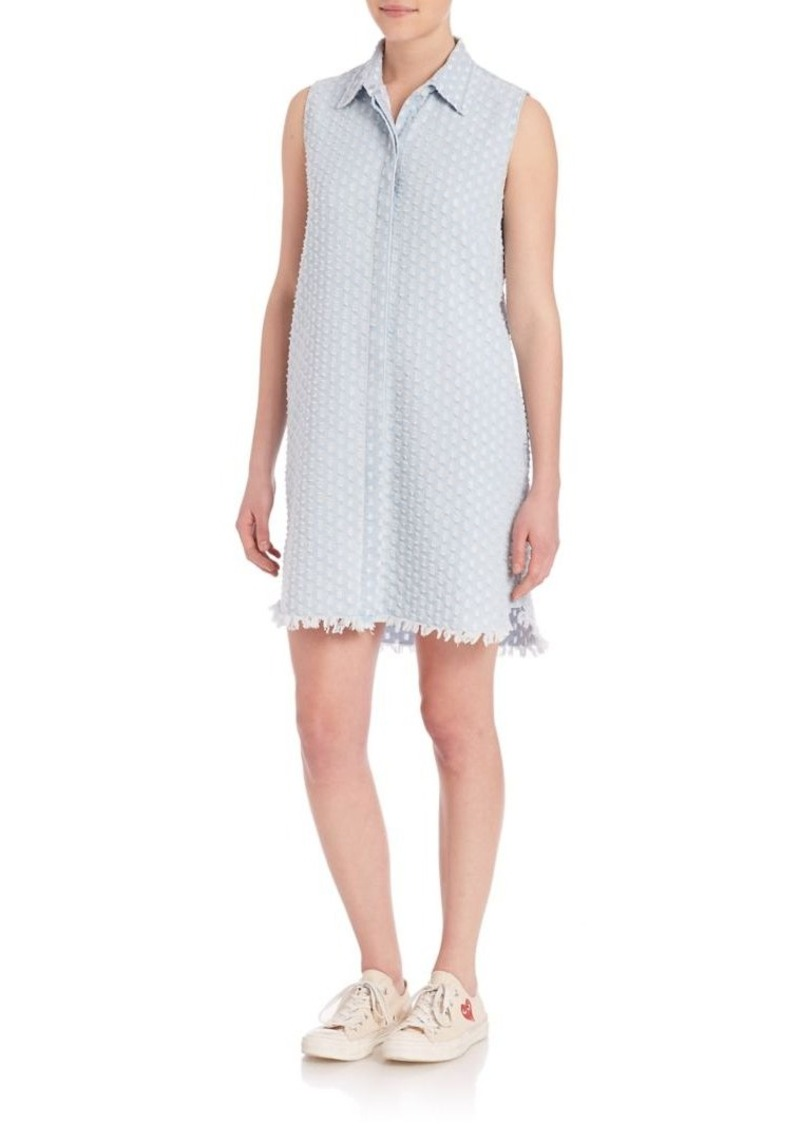 Current/Elliott Sage Dotted Burnout Shirtdress