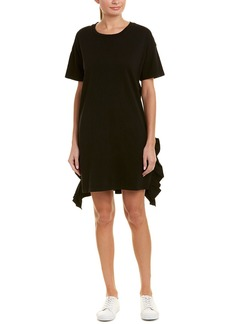 Current/Elliott Side Slit Ruffle Shift Dress