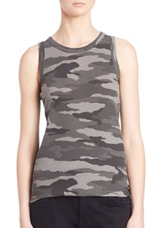 Current/Elliott Sleeveless Camo Muscle Tee
