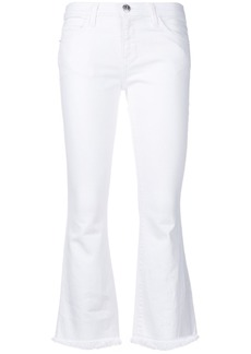 Current/Elliott slim-fit cropped trousers - White