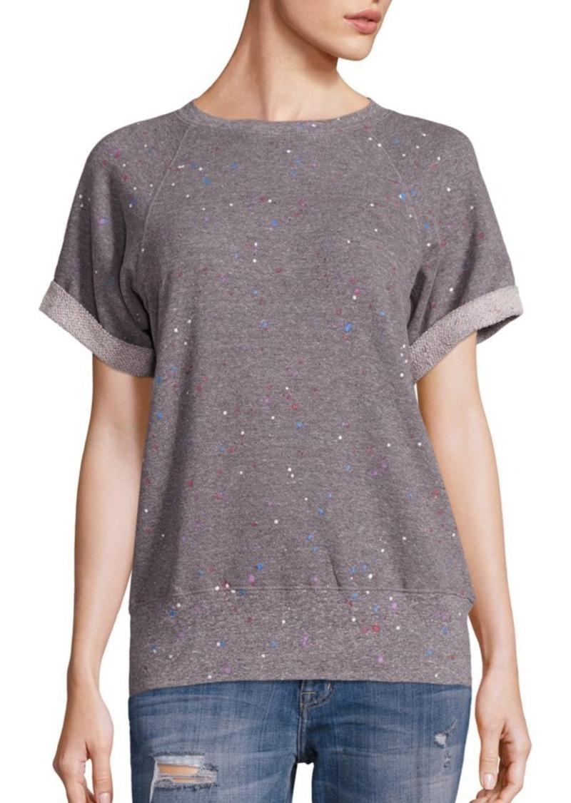 Current/Elliott Splatter-Print Sweatshirt