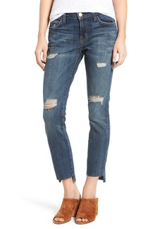 Current/Elliott Step Hem Ankle Skinny Jeans (Destroy)