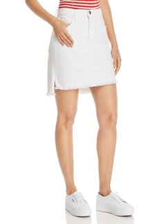 Current/Elliott Step-Hem Denim Mini Skirt