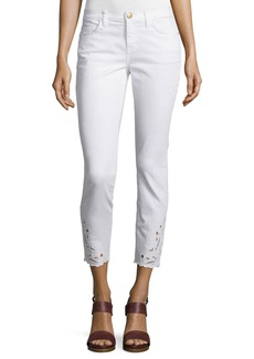 Current/Elliott Stiletto Embroidered Cropped Jeans