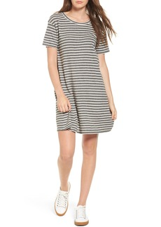 Current/Elliott Stripe Knit T-Shirt Dress