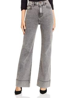 Current/Elliott The 5-Pocket Maritime Wide-Leg Jeans in Smoke Wash