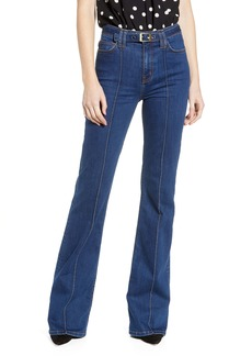 Current/Elliott The Admirer High Waist Belted Flare Jeans (Scorpio)