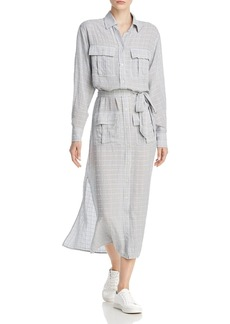 Current/Elliott The Ana Crosshatch Maxi Shirt Dress