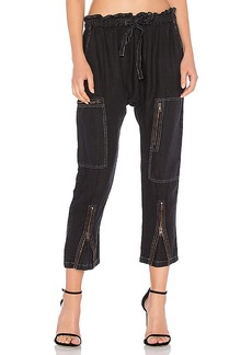 Current/Elliott The Aviation Zip Pant in Black. - size 0 / XS (also in 1 / S,2 / M)