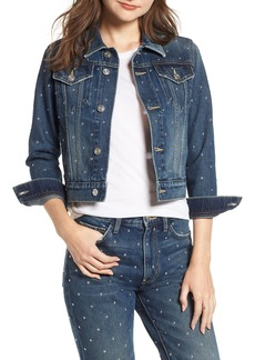 Current/Elliott The Baby Crop Denim Trucker Jacket