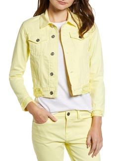 Current/Elliott The Baby Crop Denim Trucker Jacket (Acid Yellow)