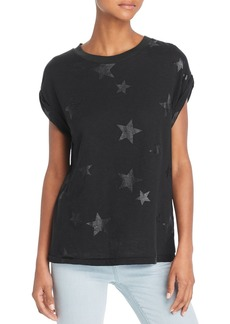 Current/Elliott The Bonn Star Print Muscle Tee