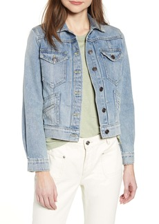 Current/Elliott The Boulder Crop Denim Jacket