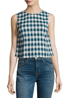 Current/Elliott The Boxy Cropped Checkered Tank