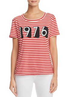 Current/Elliott The Boy Striped Graphic Tee