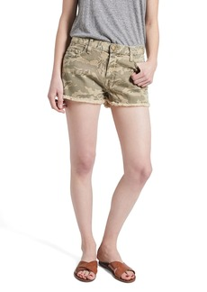 Current/Elliott The Boyfriend Cutoff Denim Shorts (Broken Camo)