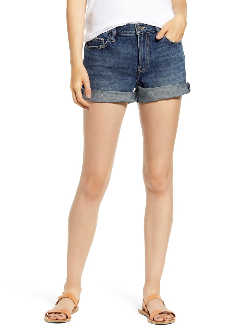 Current/Elliott The Boyfriend Roll Cuff Denim Shorts (1 Year)