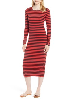 Current/Elliott The Breton Stripe Midi Dress