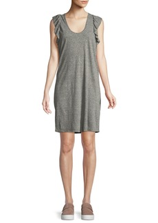 Current/Elliott The Cadence Scoop-Neck Heathered Dress