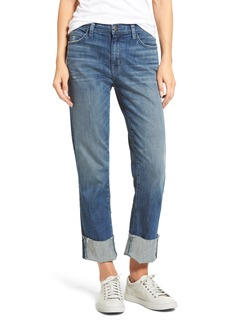 Current/Elliott The Camdyen High Waist Straight Leg Jeans (Sahara Destroy)