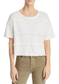 Current/Elliott The Claudia Ruffled Tee