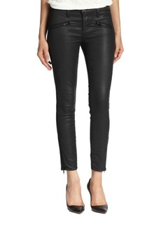 Current/Elliott The Soho Zip Stiletto Coated Skinny Jeans