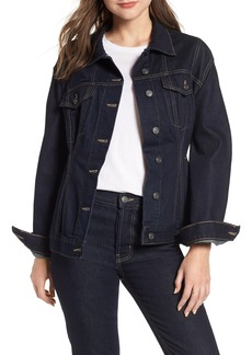 Current/Elliott The Corset Denim Trucker Jacket