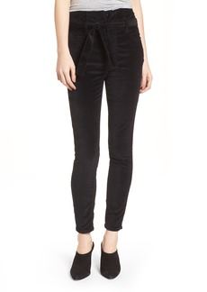 Current/Elliott The Corset Stiletto Ankle Skinny Pants (Jet Black 2)