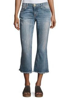 Current/Elliott The Cropped Flip Flop Distressed Jeans
