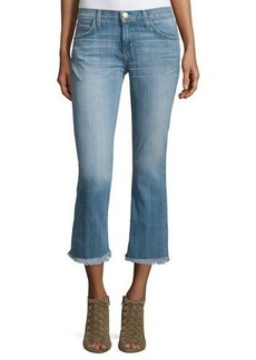 Current/Elliott The Cropped Flip Flop Distressed Jeans
