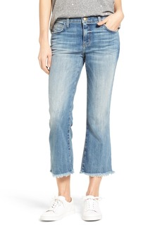 Current/Elliott The Cropped Flip Flop Frayed Hem Jeans (First Love Destroy)