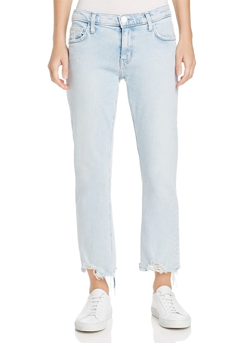 506c57d0108b6b Current/Elliott The Cropped Straight Jeans in Cascade with Punk Hem