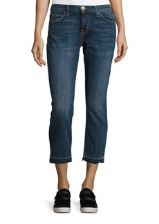 Current/Elliott The Cropped Straight-Leg Jeans